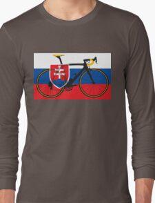 Bike Flag Slovakia (Big - Highlight) Long Sleeve T-Shirt