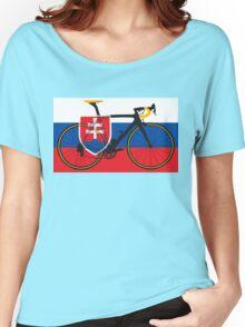 Bike Flag Slovakia (Big - Highlight) Women's Relaxed Fit T-Shirt