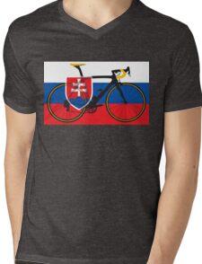 Bike Flag Slovakia (Big - Highlight) Mens V-Neck T-Shirt
