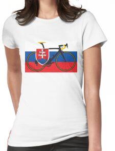 Bike Flag Slovakia (Big - Highlight) Womens Fitted T-Shirt