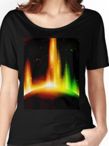 Retro space background Women's Relaxed Fit T-Shirt