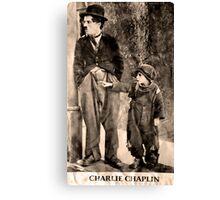 Charlie Chaplin and The Kid Canvas Print
