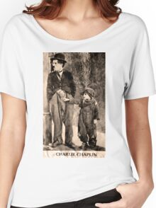 Charlie Chaplin and The Kid Women's Relaxed Fit T-Shirt