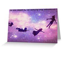 peter pan silhouettes Greeting Card