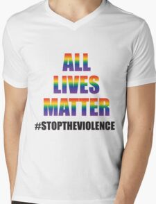 ALL LIVES MATTER Mens V-Neck T-Shirt