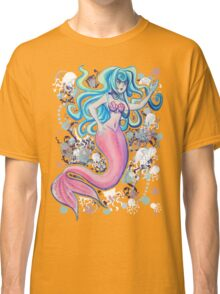 Pink Tailfin Mermaid Classic T-Shirt