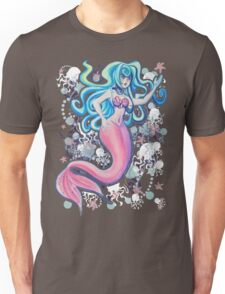 Pink Tailfin Mermaid Unisex T-Shirt