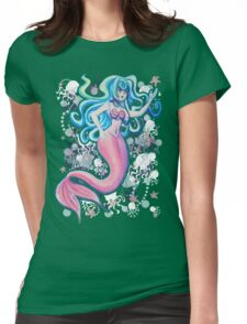 Pink Tailfin Mermaid Womens Fitted T-Shirt