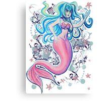 Pink Tailfin Mermaid Canvas Print
