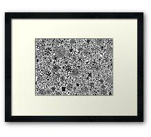 Floral black Framed Print
