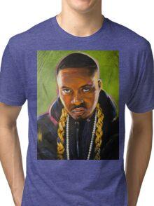Nas Colorful Portrait Tri-blend T-Shirt