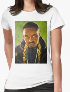 Nas Colorful Portrait Womens Fitted T-Shirt