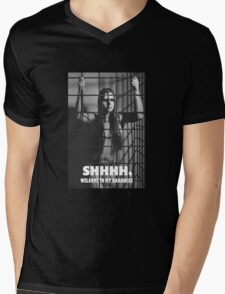 Photograph Nude in a Cage Mens V-Neck T-Shirt