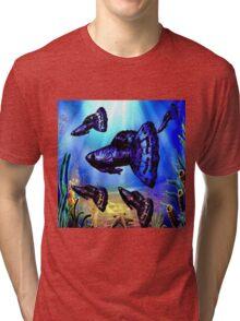 Blue & Purple Dragon Fancy Guppy Tri-blend T-Shirt