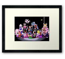 Pokemondertale   Pokemon Undertale Crossover Framed Print