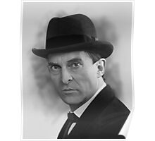 The Bohemian Holmes  - Jeremy Brett (BW) Poster