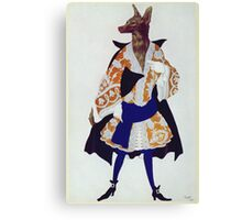 Leon Bakst - The  Wolf. Dancer painting: wolf, ballet, dance, designer, choreography, music, theatre, dancer,  music, dress, costume Canvas Print