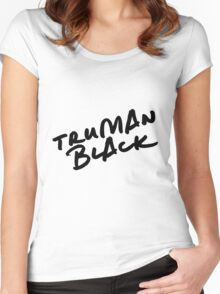 // TRUMAN BLACK // Women's Fitted Scoop T-Shirt