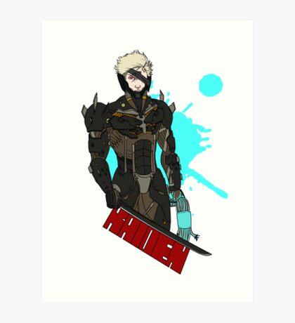 Metal Gear Rising Raiden Art Print