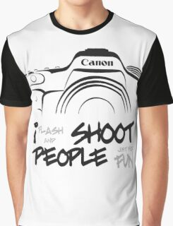 Shoot People for Fun Cartoonist Version (v2) Graphic T-Shirt