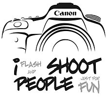 Shoot People for Fun Cartoonist Version (v2) Photographic Print