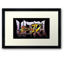 ultra street fighter logo Framed Print