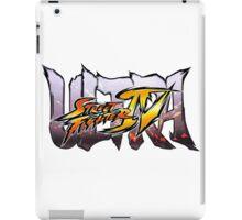 ultra street fighter logo iPad Case/Skin
