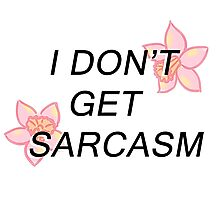 I Don't Get Sarcasm Photographic Print