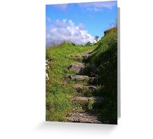 Mountain Steps Greeting Card