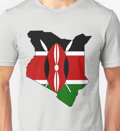 Kenya Map with Flag of Kenya Unisex T-Shirt