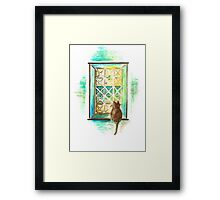 Curiosity  Cat Framed Print