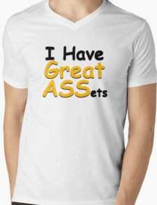 I have great ASSets Mens V-Neck T-Shirt