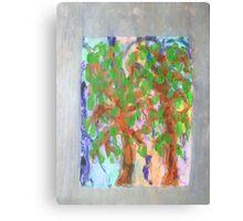 Trees under an Autumn sky Canvas Print