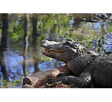Florida - Where the Alligator smiles Photographic Print