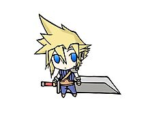 Chibi Cloud Photographic Print