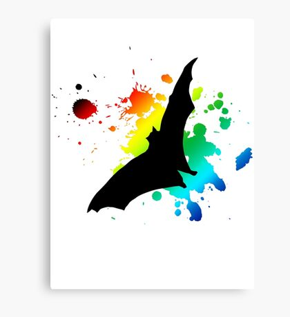 bat in flight Canvas Print