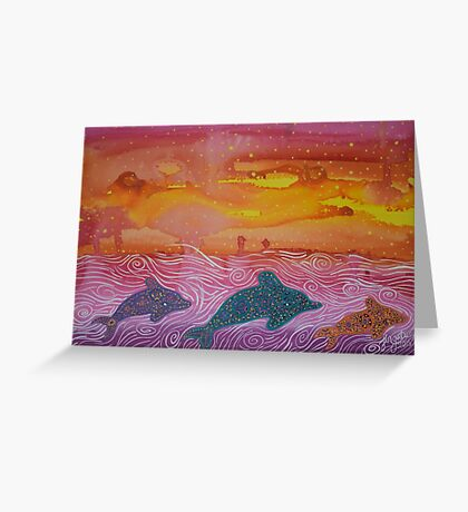 Dolphin magic Greeting Card