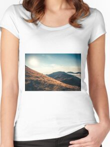 Mountains in the background XXIII Women's Fitted Scoop T-Shirt