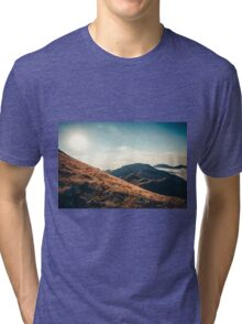 Mountains in the background XXIII Tri-blend T-Shirt