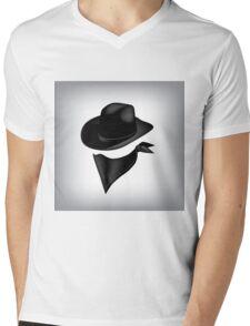 Bandit hat and bandana Mens V-Neck T-Shirt