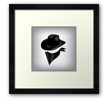 Bandit hat and bandana Framed Print