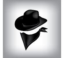 Bandit hat and bandana Photographic Print