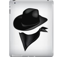 Bandit hat and bandana iPad Case/Skin