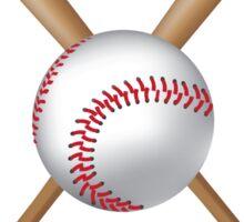 Baseball bats and baseball Sticker