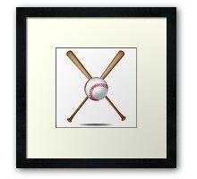 Baseball bats and baseball Framed Print