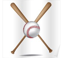 Baseball bats and baseball Poster