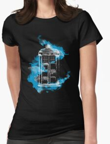 Watery TARDIS Womens Fitted T-Shirt