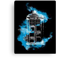 Watery TARDIS Canvas Print