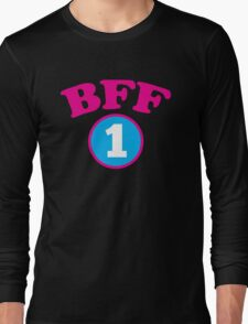 BFF 1 Best friends forever number 1 with matching 2 Long Sleeve T-Shirt