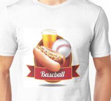 Baseball hot dog and beer design Unisex T-Shirt
